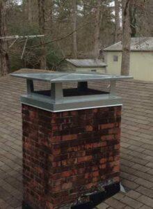 chimney cap on house